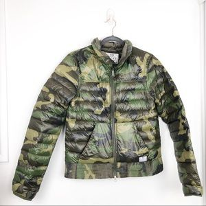 Nike Camouflage Goose Down Puffer Jacket